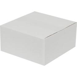 20*20*10cm Tek Oluklu Koli - Beyaz - Thumbnail