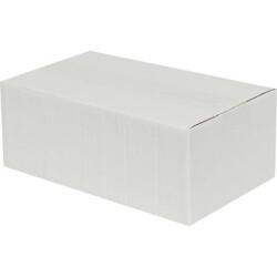 20*15*10cm Tek Oluklu Koli - Beyaz - Thumbnail