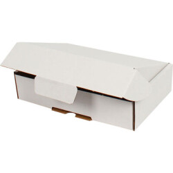 24*16,5*6cm Kilitli Kutu - Beyaz - Thumbnail