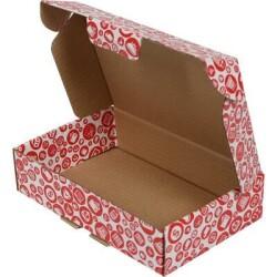 24*16,5*6cm Desenli Kutu- Kırmızı - Thumbnail
