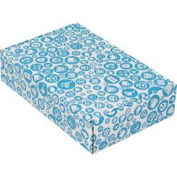24*16,5*6cm Desenli Kutu - Mavi