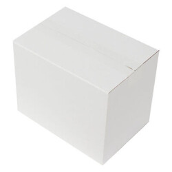 25*17*20cm Seperatörlü Uzun Bardak Kutusu - Beyaz - Thumbnail
