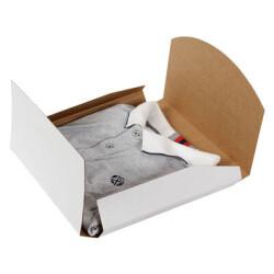 27*27*3,5cm Tişört Kutusu - Beyaz - Thumbnail