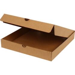 28*28*4,5cm Pizza Kutusu - Kraft - Thumbnail