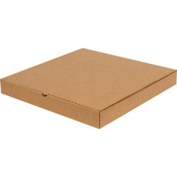 32*32*4cm Pizza Kutusu - Kraft - Thumbnail