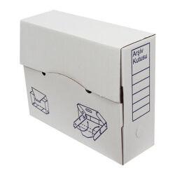 34*11*28cm Evrak Arşiv Kutusu - Beyaz
