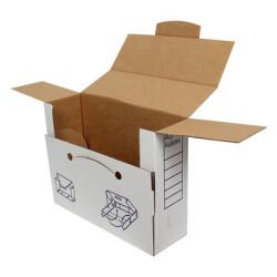 34*11*28cm Evrak Arşiv Kutusu - Beyaz - Thumbnail