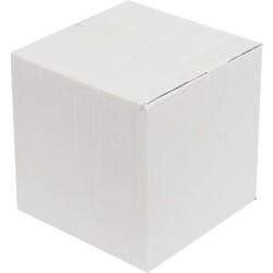 15*15*15cm Tek Oluklu Koli - Beyaz - Thumbnail